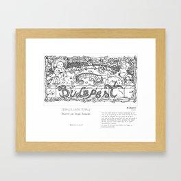 """Budapest"" en Mots & Image (French touch) by Shyle Zalewski Framed Art Print"