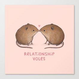 Relationship Voles Canvas Print