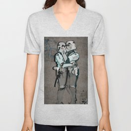 kissing clones Unisex V-Neck