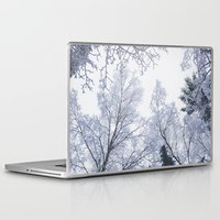 cities Laptop & iPad Skins featuring Scared cities by HappyMelvin