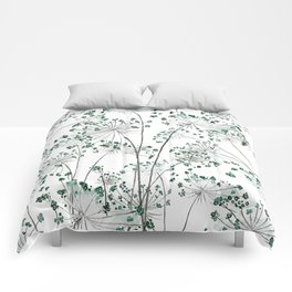 wild carrot watercolor Comforters