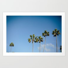 California in the Palm of your Hands Art Print
