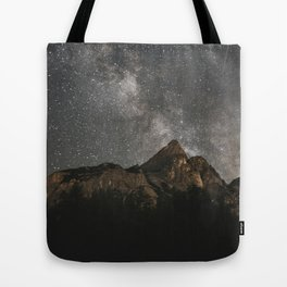Milky Way Over Mountains - Landscape Photography Tote Bag