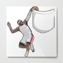 King James dunking in a pocket Metal Print