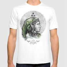 Legend of Zelda - Link The Proud Hylian.  Mens Fitted Tee White MEDIUM