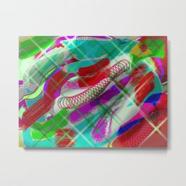 Messy colourful lines Metal Print