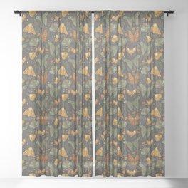 Autumn Moths Sheer Curtain