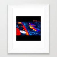 nasa Framed Art Prints featuring Psychedelic NASA free-fall by ThatsAStonedAssDonkey