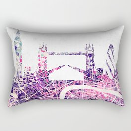 LONDON Skyline + map Rectangular Pillow