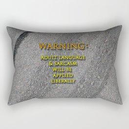 Sarcasm Applied Liberally Rectangular Pillow