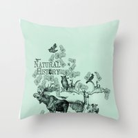 history Throw Pillows featuring Natural History by Jonathan P