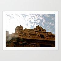 hindu Art Prints featuring Hindu Temple by briannagarriott