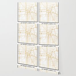 MINNEAPOLIS MINNESOTA CITY STREET MAP ART Wallpaper