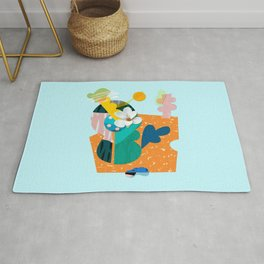 A flower in Antibes Rug