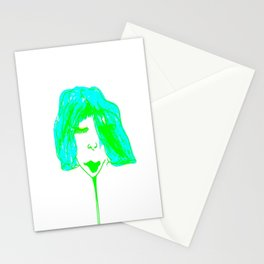 Claire in green Stationery Cards