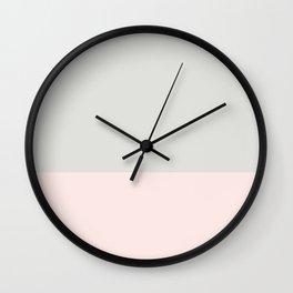 #fce9e5+#e0e1dc Wall Clock