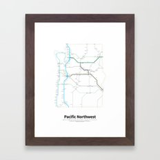 Highways of the USA – Pacific Northwest Framed Art Print