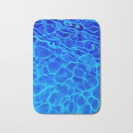 Blue Water Abstract Bath Mat