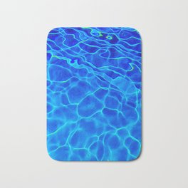 Blue Water Abstract Bath Mat