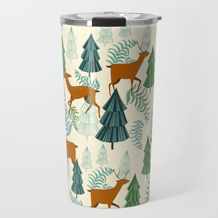 Deers in the forest Travel Mug