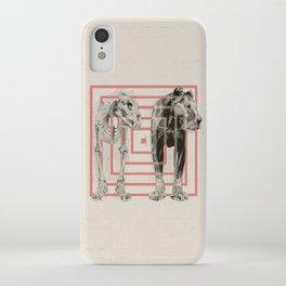 Concentric Lion Squares iPhone Case