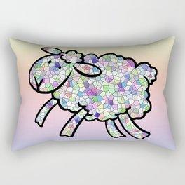 Mosaic Lamb Rectangular Pillow