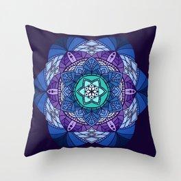 [Mandala] Cool Hues Throw Pillow