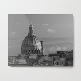 Dome of Our Lady of Mount Carmel in Valletta, Malta Metal Print
