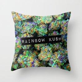Rainbow Kush Throw Pillow