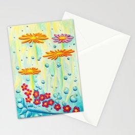 Aqua Fleur - Mazuir Ross Stationery Cards
