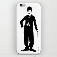 charlie chaplin iPhone & iPod Skins featuring Charlie Chaplin by Walter Eckland