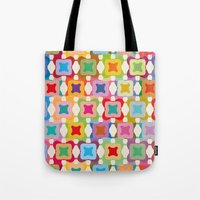 square Tote Bags featuring Square by Helene Michau