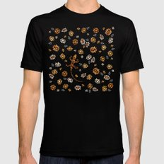Floral #3 MEDIUM Mens Fitted Tee Black