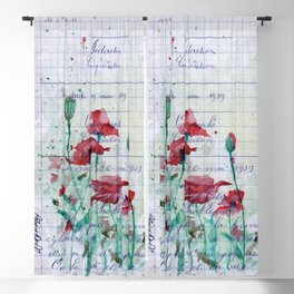 Poppies in France, May 19 1939 Blackout Curtain