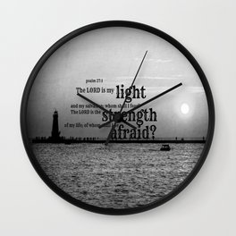 Lord is My Light Wall Clock
