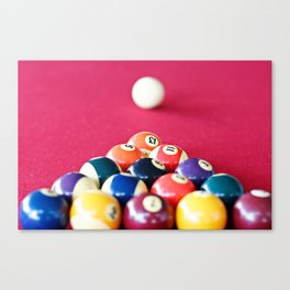 Pool Balls Canvas Print