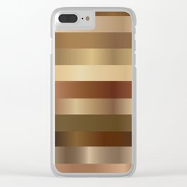 Wood Gradient Pattern Clear iPhone Case