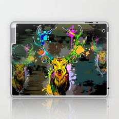 Deer PopArt Dripping Paint Laptop & iPad Skin