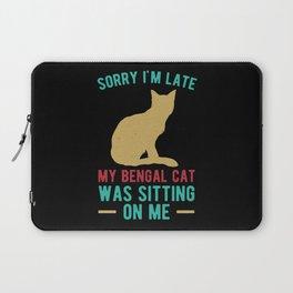 Funny Bengal Cat Laptop Sleeve