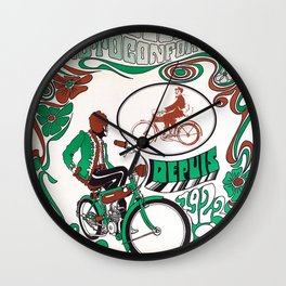 Motobécane - Vintage French Cycling Poster Wall Clock