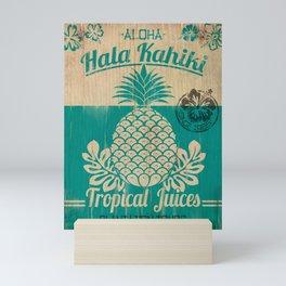 Hala Kahiki Juice Stand wooden board. Mini Art Print