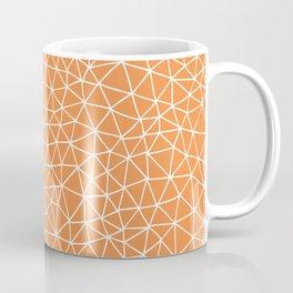 Connectivity - White on Orange Coffee Mug