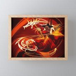 Tänzerin mit Drachen Framed Mini Art Print