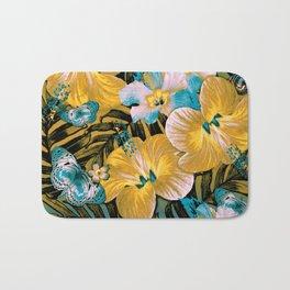 Golden Vintage Aloha Bath Mat