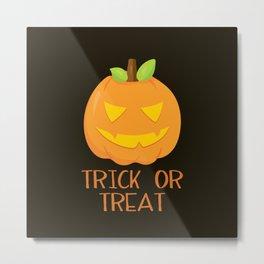 Trick or Treat Jack-o-lantern Metal Print