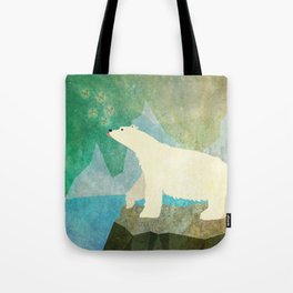 Playful Arctic Polar Bear Tote Bag