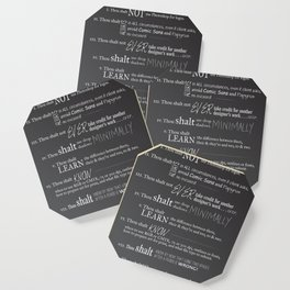 The 10 Commandments for Graphic Designers Coaster