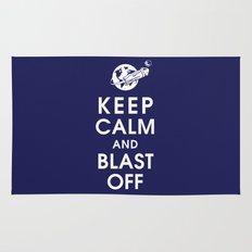 Keep Calm and Blast Off Rug