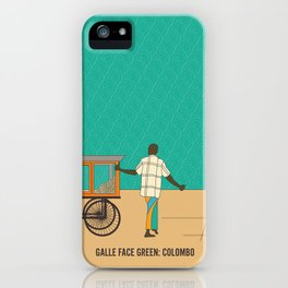 Tropical Life in Vintage Blue iPhone Case