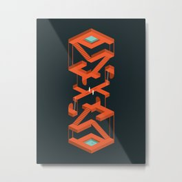 Monument Maze Metal Print